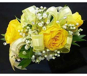 Yellow Spray Rose Corsage in Mesa AZ, Watson Flower Shops