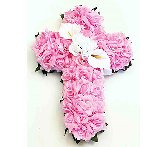 Silk Cross - Pink in Timmins ON, Timmins Flower Shop Inc.