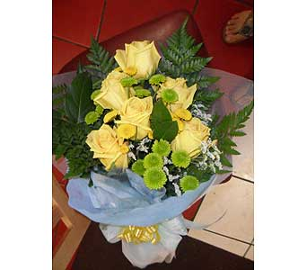 Yellow Bouquet in Rowland Heights CA, Charming Flowers
