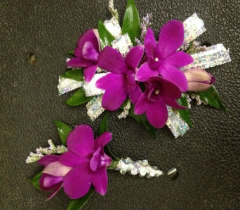 Prom Corsage & Bout- Purple Orchids in Newton NC, Newton Florist