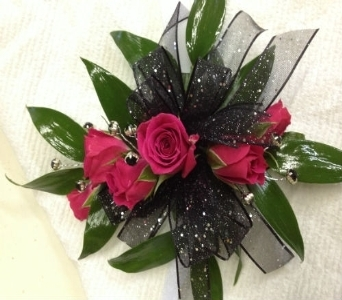 Prom Corsage- Hot pink roses in Newton NC, Newton Florist