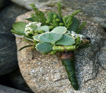 All Succulent Boutonniere in Bethany OK, Ann's Secret Garden