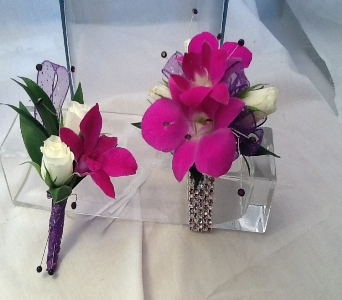 Dendrobium Orchid Corsage and Boutonni�re Set in Greenville SC, Expressions Unlimited