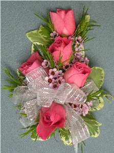 Hot Pink Rose Corsage in Kennett Square PA, Barber's Florist Of Kennett Square
