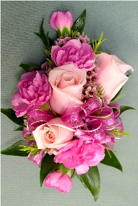 Pink Corsage in Kennett Square PA, Barber's Florist Of Kennett Square
