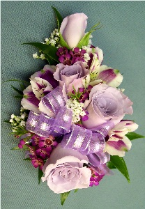 Lavender Corsage in Kennett Square PA, Barber's Florist Of Kennett Square