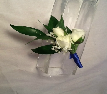 White Spray Rose Boutonni�re in Greenville SC, Expressions Unlimited