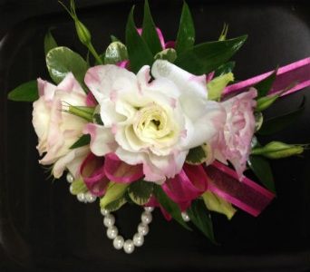 Prom Corsage- Lisianthus & Greens in Newton NC, Newton Florist