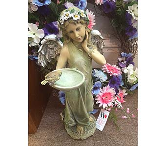 Angel with Feeder in Owensboro KY, Welborn's Floral Company