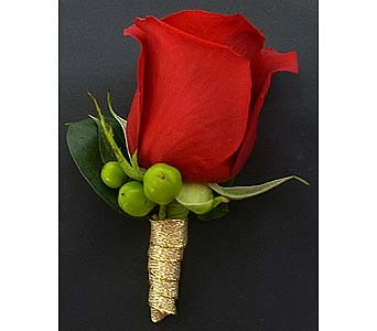 Contemporary Red Rose Boutonniere in Mesa AZ, Watson Flower Shops