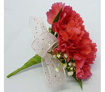 Dark Pink Carnation Boutonniere in Mesa AZ, Watson Flower Shops