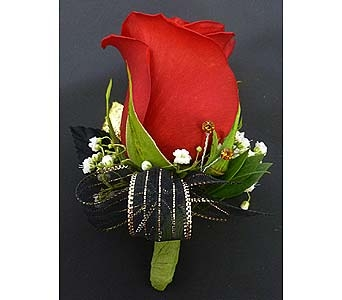 Classic Red Rose Boutonniere in Mesa AZ, Watson Flower Shops