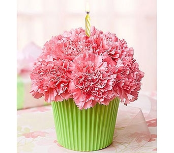 Buds and Blooms Cupcake Birthday Bouquet in Kent WA, Kent Buds & Blooms