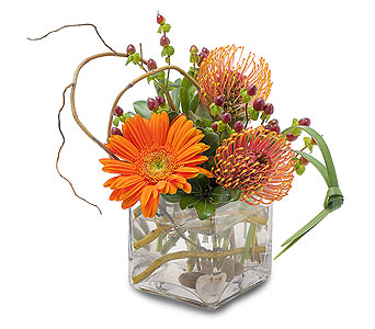 Orange Rocks in Mount Morris MI, June's Floral Company & Fruit Bouquets