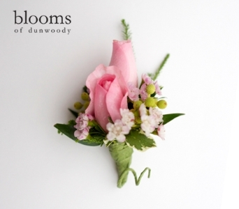 Pink Rose Boutonniere in Dunwoody GA, Blooms of Dunwoody