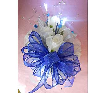 Silk Wrist Corsage with LED lights in Portsmouth OH, Kirby's Flowers