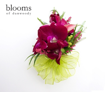 Pink and Purple Garden Mix Corsage in Dunwoody GA, Blooms of Dunwoody