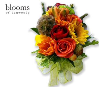 Fall Garden Mix Corsage in Dunwoody GA, Blooms of Dunwoody