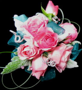 Pink and Turquoise in Farmington CT, Haworth's Flowers & Gifts, LLC.