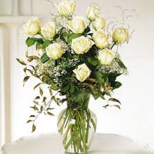 Classic Dozen White Roses Vased in Nashville TN, Emma's Flowers & Gifts, Inc.