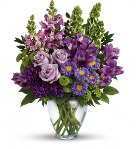 Lavender Charm Bouquet in Bluffton IN, Posy Pot