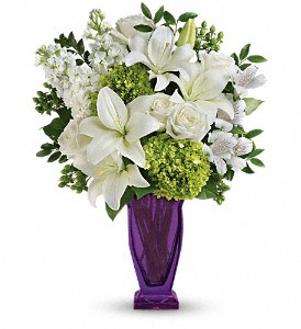 Teleflora's Moments Of Majesty Bouquet in Bloomington IL, Forget Me Not Flowers