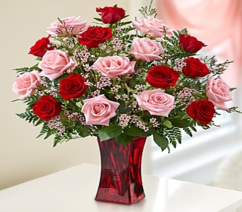 Shades of Pink and Red� Premium Long Stem Roses in Round Rock TX, Heart & Home Flowers