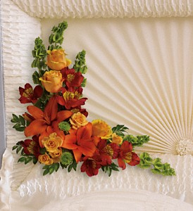 Island Sunset Casket Insert in Festus MO, Judy's Flower Basket