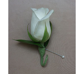 Bon Elegant White Rose Boutonniere In West Los Angeles CA, Westwood Flower  Garden