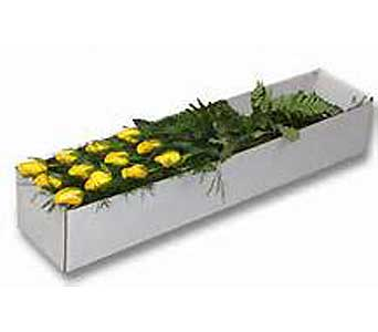 Boxed Dozen YELLOW Roses in Brooklin ON, Brooklin Floral & Garden Shoppe Inc.