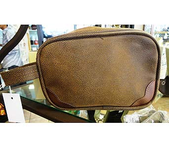 Man's Leather Toiletries Travel Bag in Tampa FL, Buds, Blooms & Beyond