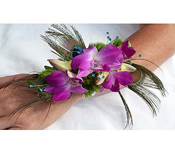 Flirty Feathers Corsage in Dearborn Heights MI, English Gardens Florist