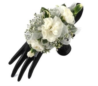 Traditonal 3 Mini Carnations Wrist Corsage In Southfield Mi Thrifty Florist