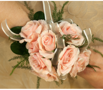 Pink Mini Rose Corsage in Merrick NY, Feldis Florists