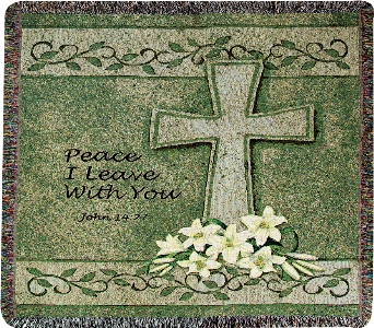 Peace I leave You Throw in Martinsville IN, Flowers By Dewey