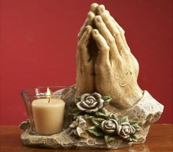 Praying Hands Candleholder in Martinsville IN, Flowers By Dewey