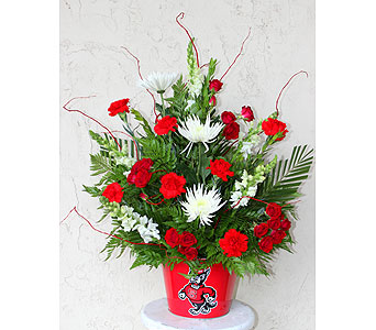 Red and White Pride in Raleigh NC, North Raleigh Florist