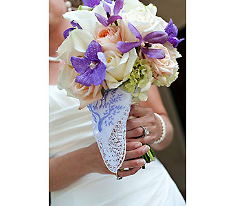Purple & White Bouquet in Las Vegas NV, Flowers By Michelle