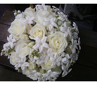 All White Bouquet in Las Vegas NV, Flowers By Michelle