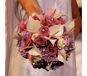 Purple, Lavendar & Crystal Bouquet in Las Vegas NV, Flowers By Michelle