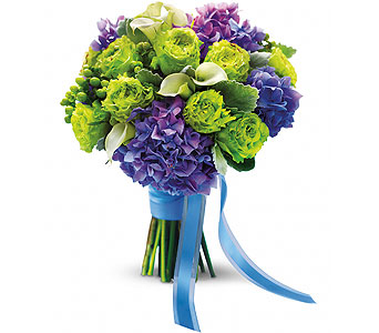Purple & Green Bouquet in Las Vegas NV, Flowers By Michelle