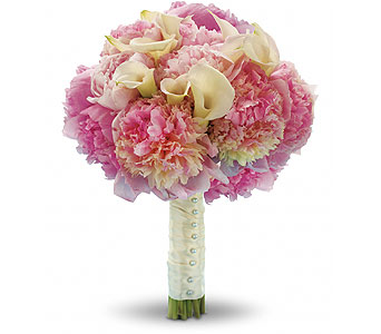 Pink Peony & Calla Bouquet in Las Vegas NV, Flowers By Michelle