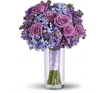 Plush Purple Bouquet in Las Vegas NV, Flowers By Michelle