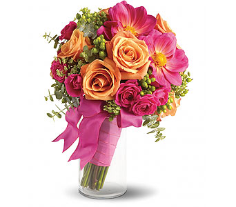 Pink & Orange Bouquet in Las Vegas NV, Flowers By Michelle