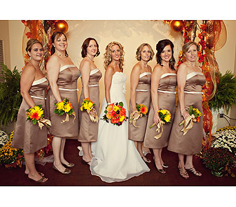 Wedding party flowers in Statesville NC, Brookdale Florist, LLC