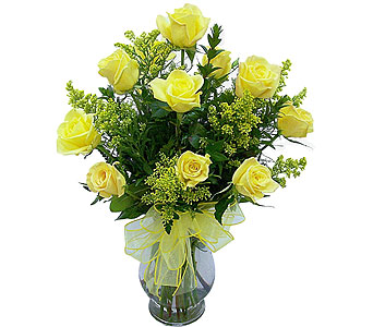 Dozen Yellow Roses Deluxe in Mesa AZ, Watson Flower Shops
