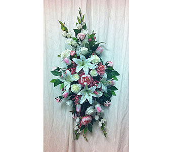 Pink Standing Spray in Timmins ON, Timmins Flower Shop Inc.