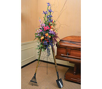Themed Standing Easel in Dearborn Heights MI, English Gardens