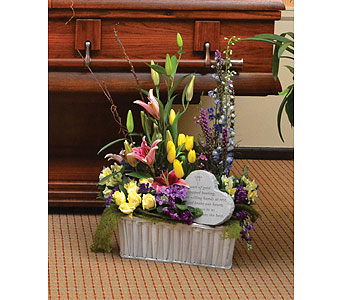 Basket of Fresh Flowers in Dearborn Heights MI, English Gardens Florist