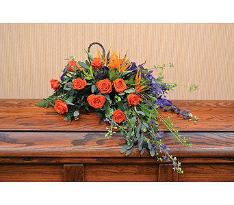 Flowing Casket Spray in Dearborn Heights MI, English Gardens Florist